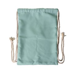 Pastel Color   Light Greenish Gray Drawstring Bag (small) by tarastyle