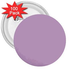 Pastel Color   Magentaish Gray 3  Buttons (100 Pack)  by tarastyle
