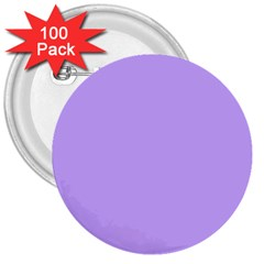 Pastel Color   Pale Blue Violet 3  Buttons (100 Pack)  by tarastyle