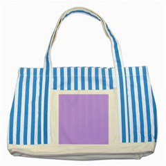 Pastel Color   Pale Blue Violet Striped Blue Tote Bag by tarastyle