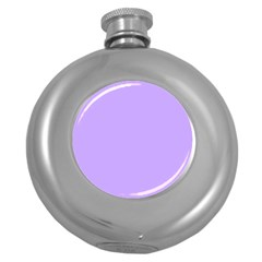 Pastel Color - Pale Blue Violet Round Hip Flask (5 Oz)