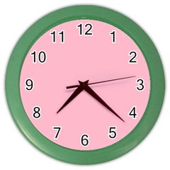 Pastel Color   Pale Crimson Color Wall Clocks by tarastyle