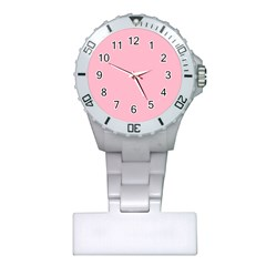 Pastel Color - Pale Crimson Plastic Nurses Watch