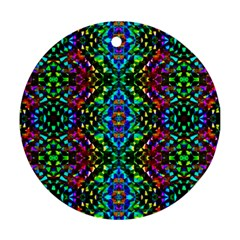 Glittering Kaleidoscope Mosaic Pattern Ornament (round) by Costasonlineshop