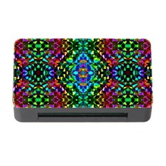Glittering Kaleidoscope Mosaic Pattern Memory Card Reader With Cf by Costasonlineshop