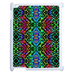 Glittering Kaleidoscope Mosaic Pattern Apple Ipad 2 Case (white) by Costasonlineshop