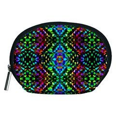 Glittering Kaleidoscope Mosaic Pattern Accessory Pouches (medium)  by Costasonlineshop