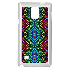Glittering Kaleidoscope Mosaic Pattern Samsung Galaxy Note 4 Case (white) by Costasonlineshop