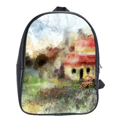 Old Spanish Village School Bags(large)  by digitaldivadesigns