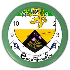 County Offaly Coat Of Arms  Color Wall Clocks by abbeyz71