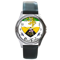 County Offaly Coat Of Arms  Round Metal Watch by abbeyz71