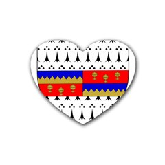 County Tipperary Coat Of Arms  Heart Coaster (4 Pack)  by abbeyz71