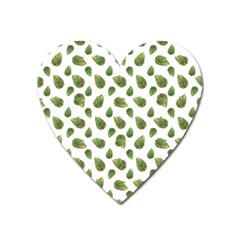 Leaves Motif Nature Pattern Heart Magnet by dflcprints