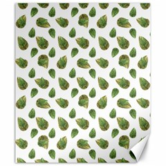Leaves Motif Nature Pattern Canvas 20  X 24   by dflcprints