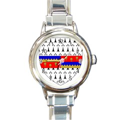 County Tipperary Coat Of Arms  Round Italian Charm Watch