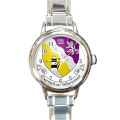 County Wexford Coat Of Arms  Round Italian Charm Watch