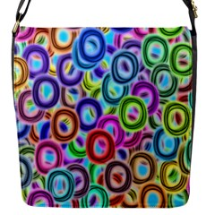 Colorful Ovals              Flap Closure Messenger Bag (s) by LalyLauraFLM