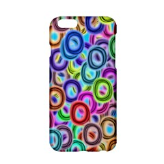 Colorful Ovals        Apple Iphone 6/6s Black Enamel Case by LalyLauraFLM