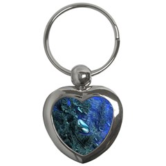 Shiny Blue Pebbles Key Chains (heart)  by linceazul