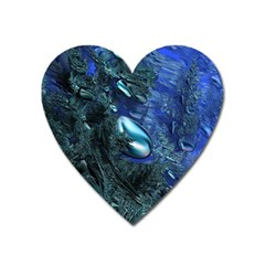 Shiny Blue Pebbles Heart Magnet by linceazul