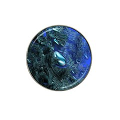 Shiny Blue Pebbles Hat Clip Ball Marker by linceazul