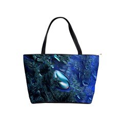 Shiny Blue Pebbles Shoulder Handbags by linceazul