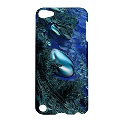 Shiny Blue Pebbles Apple Ipod Touch 5 Hardshell Case by linceazul