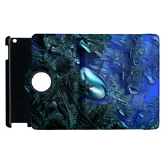 Shiny Blue Pebbles Apple Ipad 3/4 Flip 360 Case by linceazul