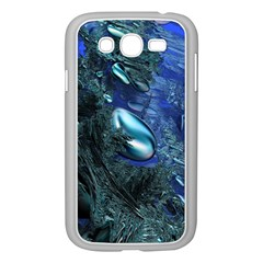 Shiny Blue Pebbles Samsung Galaxy Grand Duos I9082 Case (white) by linceazul