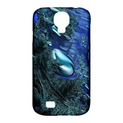 Shiny Blue Pebbles Samsung Galaxy S4 Classic Hardshell Case (pc+silicone) by linceazul
