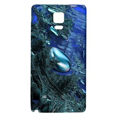 Shiny Blue Pebbles Galaxy Note 4 Back Case by linceazul