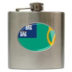 City Of Dublin Flag Hip Flask (6 Oz) by abbeyz71
