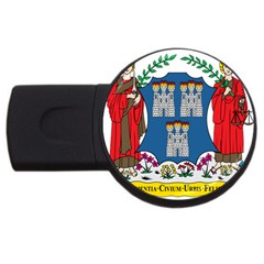 City Of Dublin Coat Of Arms  Usb Flash Drive Round (4 Gb) by abbeyz71