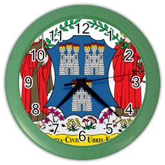 City Of Dublin Coat Of Arms Color Wall Clocks by abbeyz71