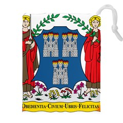 City Of Dublin Coat Of Arms Drawstring Pouches (xxl) by abbeyz71