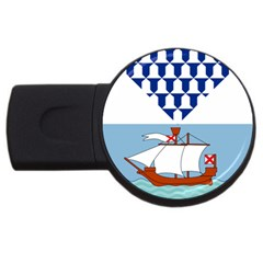 Flag Of Belfast Usb Flash Drive Round (2 Gb) by abbeyz71