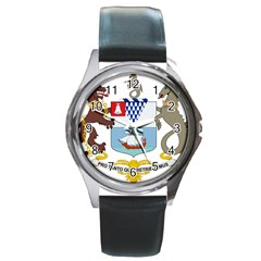 Coat Of Arms Of Belfast  Round Metal Watch by abbeyz71