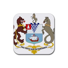 Coat Of Arms Of Belfast  Rubber Coaster (square)  by abbeyz71