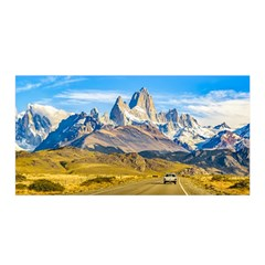 Snowy Andes Mountains, El Chalten, Argentina Satin Wrap by dflcprints
