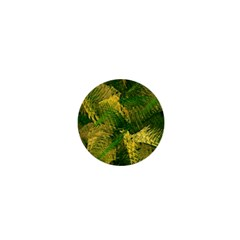 Green And Gold Abstract 1  Mini Buttons by linceazul