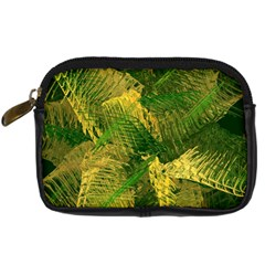 Green And Gold Abstract Digital Camera Cases by linceazul