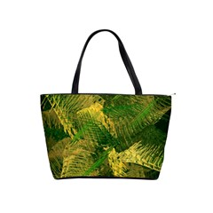 Green And Gold Abstract Shoulder Handbags by linceazul