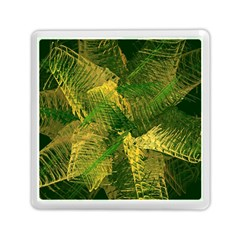 Green And Gold Abstract Memory Card Reader (square)  by linceazul