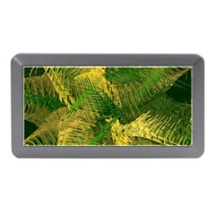 Green And Gold Abstract Memory Card Reader (mini) by linceazul