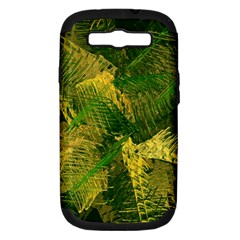 Green And Gold Abstract Samsung Galaxy S Iii Hardshell Case (pc+silicone) by linceazul