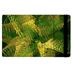 Green And Gold Abstract Apple Ipad 3/4 Flip Case by linceazul