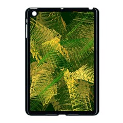 Green And Gold Abstract Apple Ipad Mini Case (black) by linceazul