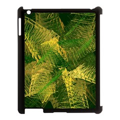 Green And Gold Abstract Apple Ipad 3/4 Case (black) by linceazul