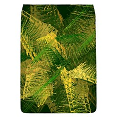 Green And Gold Abstract Flap Covers (l)  by linceazul