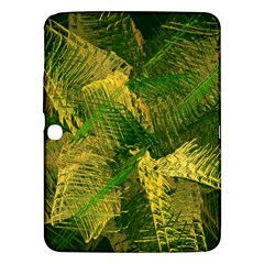 Green And Gold Abstract Samsung Galaxy Tab 3 (10 1 ) P5200 Hardshell Case  by linceazul